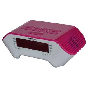 Radio-réveil numérique - rose