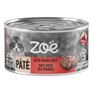 Zoë Pâté pour chats avec BŒUF DES PRAIRIES