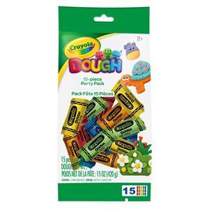 Crayola 15 x 1 oz dough bag party pack