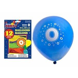 Ballons imprimés ; 30.5cm ; #0 ; emballage de 12 ; couleurs assorties
