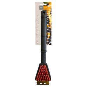 Poils en nylon BBQ grill brosse avec grattoir (37cm)