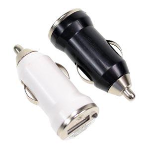 Chargeur USB pour voiture; bocal de 36 unités avec 2 couleurs assorties