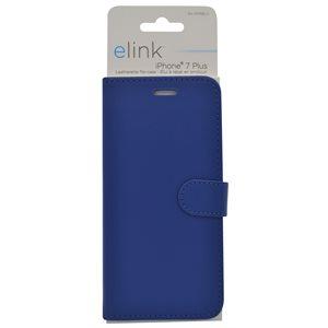 Etui en similicuir pour iphone7 plus bleu
