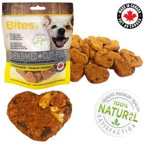 BITES biscuits cuits au four pour chien 85gr - FROMAGE CHEDDAR