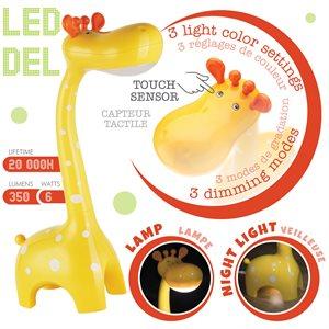 Lampe tactile en forme de girafe