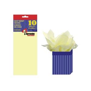 Papier soie ; 50.8x66.04cm ; emballage de 6 feuilles ; Ivoire
